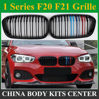 F20 LCI carbon fiber and ABS front bumper grille for BMW facelifted F21 120i 118i 118d 116i M135i 2015 2019