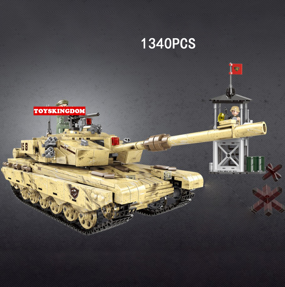 Modern military Traversing the battlefield 99 type main battle tank building block ww2 army figures observation tower brick toy new arrival world war ii the battle of taierzhuang military building brick ww2 chinese japanese army figures building block toy