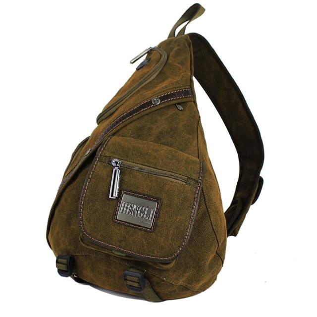 2f2a41f89a 1pc Brand high quality canvas sling bag messenger bags Black Army coffee  6029 Free shipping