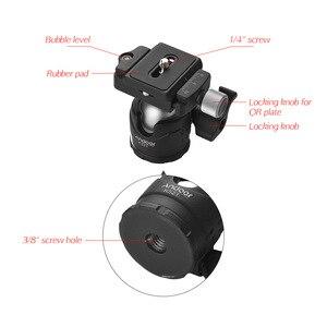 "Image 3 - Andoer K521 5 section Extendable Aluminum Alloy Tripod with Mini Ball Head 1/4""Screw Mount for Canon Nikon Sony DSLR ILDC Camera"