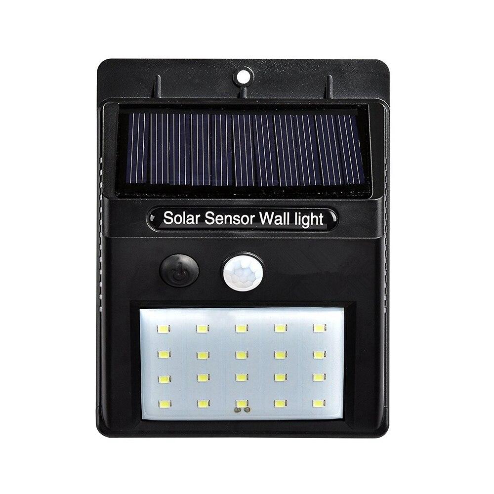 Nouveau 20 LED LED Solar Power PIR Motion Sensor Wall Light en plein air Étanche Rue Économie D'énergie Cour Chemin La Maison Jardin Solaire Lampe