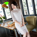 2017 nova Moda & Casual vestido Curto Qipao Cheongsam Chinês tradicional para o casamento Oriental do sexo feminino Vestidos sexy para As Mulheres