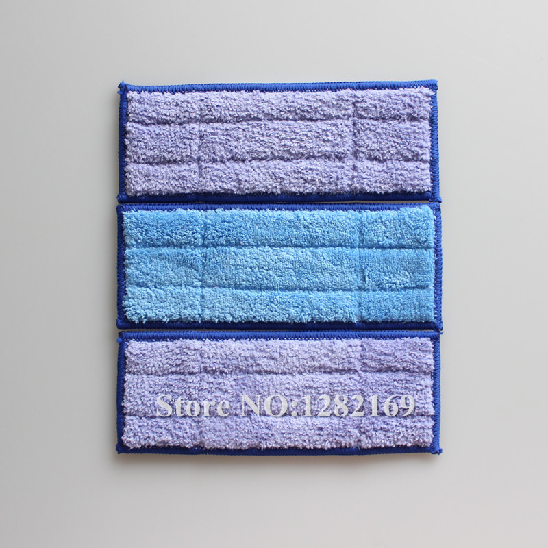 3 pieces/lot Microfiber Washable wet & damp & dry sweeping Pad mopping pads replacement for iRobot Braava Jet 240  microfiber wet room pads 24 in long split nylon polyester blend blue