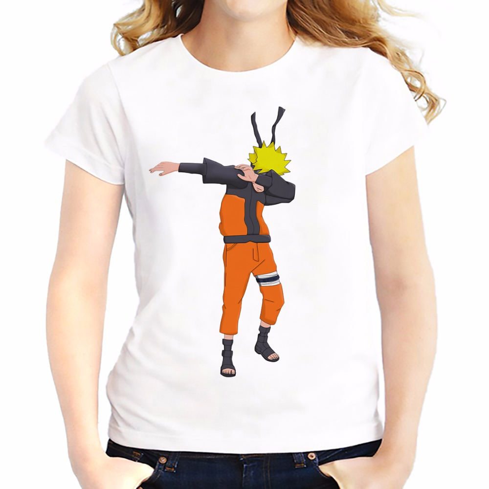 dabbing uzumaki naruto funny t shirts women summer new. Black Bedroom Furniture Sets. Home Design Ideas