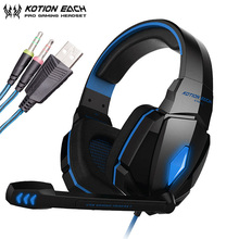 KOTION EACH G4000 Gaming Headphones casque PC Gamer Best Stereo Headset with Microphone/LED Light for Computer Game xiberia ko gaming headphones with microphone led light best stereo headset gamer for computer game fones de ouvido
