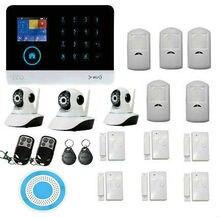 Wifi inalámbrica gsm seguridad para el hogar sistema de cámara con motion detección, HD Cámara de Vídeo IP, Flash inalámbrico Sirena del Estroboscópico