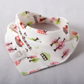 1pcs Baby bibs New Arrival triangl double layers cotton baberos Cartoon Character Animal Print baby bandana bib dribble bibs