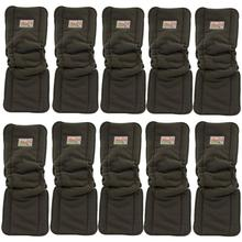 10pcs/lot Reusable Baby Diaper Insert Washable Diapers Nappies 5 Layers Microfiber Liners Pocket Diaper Cover Insert