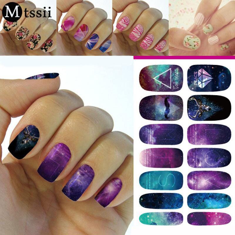 Mtssii 1 Sheet Fashion Nail Art Stickers 3 Styles Water Transfer ...