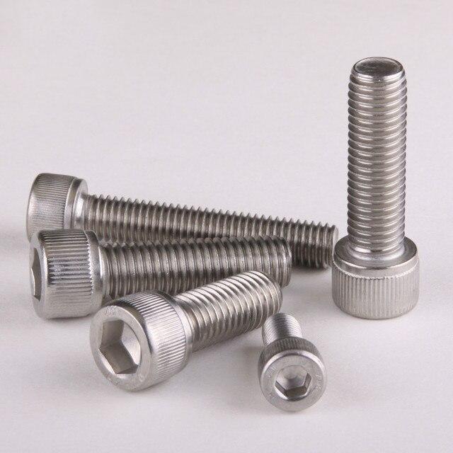 Vis à capuchon de douille Allen en acier inoxydable | 304 clé Allen à tête hexagonale DIN912 M5 * 6/8/10/12 .... 100