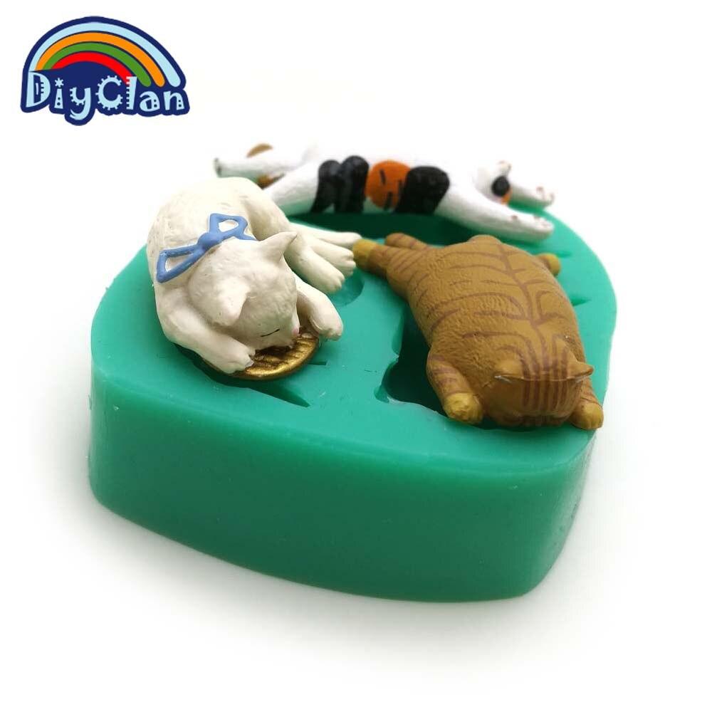 3 gatos estilo molde de silicone para decoração do bolo fondant - Cozinha, sala de jantar e bar - Foto 4