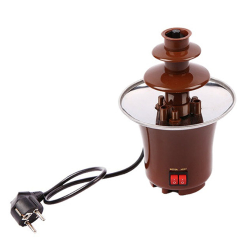 New Mini Chocolate Fountain Creative Design Chocolate Melt With Heating Fondue Machine tinton life creative design mini chocolate fountain for sale fondue machine chocolate melts with heating