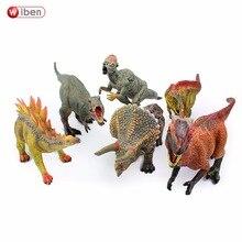 6 шт./лот Wiben Юрский тираннозавр рекс аллозавр авимимус Трицератопс Стегозавр Пахицефалозавр динозавры игрушки для детей подарок