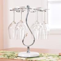 Houmaid barware European style electricting plate wine holder,creative iron holder, goblet glass hanging holder