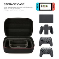 Black Storage Bag for Nintend Nintendo Switch Case Durable Carrying Pouch Case for Nintendo Switch Game Accessories Bag