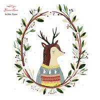 Oro Panno, Costura, Bordado, Animal de DIY Pintura, Kits, 14ct Punta del ratón, para el Bordado, Christmas1010