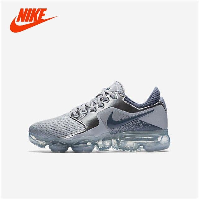 4f4afd4f76132 Original NIKE AIR VaporMax Flyknit GS Women Girl Children Shoe Silver  Crystal Lightweight Damping Running Shoes Sport Sneakers
