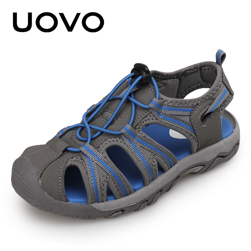 Uovo Brand Kids Classical Sandals Mixed Color Soft Slip-resistant Casual Flats Summer Sandalias Size 25-32 Boys Beach Shoes boys girls antislip usb sandals summer cut out comfortable flats beach sandals kids children breathable led shoes with light