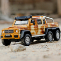 1:32 Scale Brabus AMG 6x6 Diecast Metal Cars Model Pull Back Acousto-optic Simulation Alloy Cars Boy Collection Mini Auto Toys