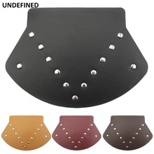 Black Motorcycle Fender Flap Guard Leather Front Mud For Harley Touring Road Electra Street Glide CVO Universal UNDEFINED