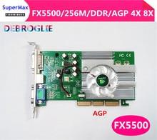 새로운 오리지널 FX5500 256M AGP 그래픽 카드 AGP4X 8X 업그레이드가 선호되고 FX5200 ati9550보다 강합니다.