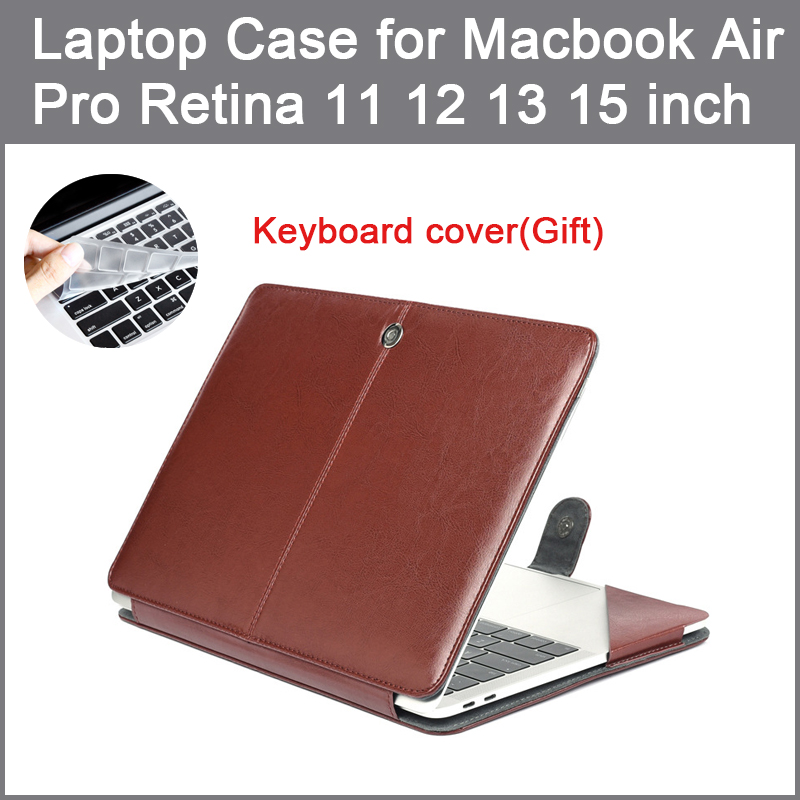 PU leather Bag Case For Apple MacBook Air Pro Retina 11 12 13 15 2016 2017 New Pro 13 15 inch with Touch Bar + Keyboard cover image