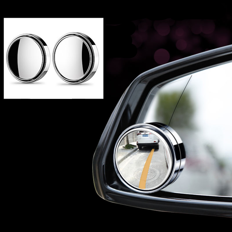 2x Car RearView Mirror Small Round Mirror For Skoda Superb <font><b>Octavia</b></font> A7 A5 <font><b>2</b></font> Fabia Rapid Yeti Citroen C4 C5 C3 Grand Picasso image