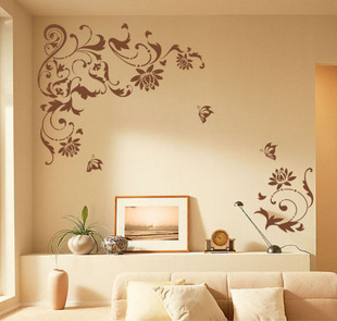 vintage flowers trees family vintage home decor DIY wallpaper mural ...