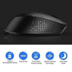 Image 2 - ג לי מסרק 2.4G USB סוג C אלחוטי עכבר נטענת ארגונומי עכבר 800/1200/1600 DPI עכברים עבור Macbook Pro מחשב נייד נייד