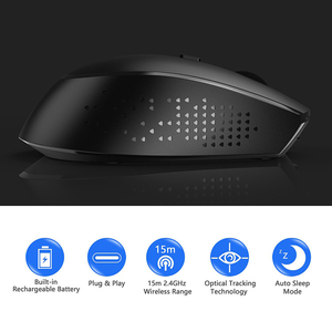 Image 2 - Jelly Comb 2.4G USB Type C Wireless Mouse Rechargeable Ergonomic Mouse 800/1200/1600 DPI Mice For Macbook Pro Laptop Notebook PC