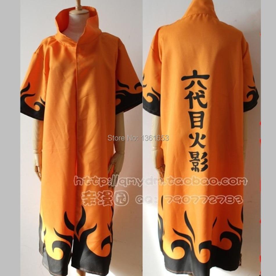 Anime font b NARUTO b font Uzumaki font b Cosplay b font Cloak Clothing Costume Hooded