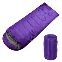 Adult Single Camping Waterproof Suit Case Envelope Sleeping Bag Purple