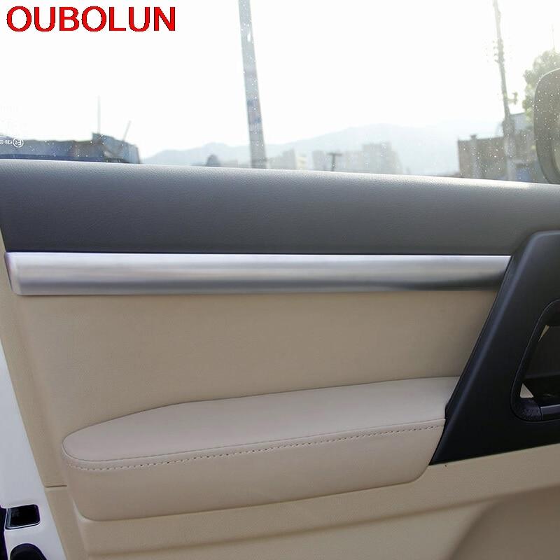 Car Interior Door Stripe Cover Trim 4pcs for Toyota Land Cruiser LC200 2008-2016