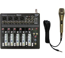 STARAUDIO Pro Audio DJ Stage KTV 6CH Bluetooth USB Mixer Mixing Console W/ 1 Wired Microphone  SMX-6000B
