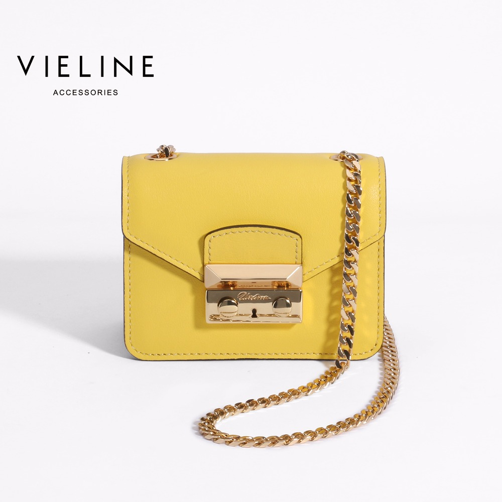 Vieline women genuine leather minin crossbody bag Designer Brand lady real leather shoulder bag Chains Flap
