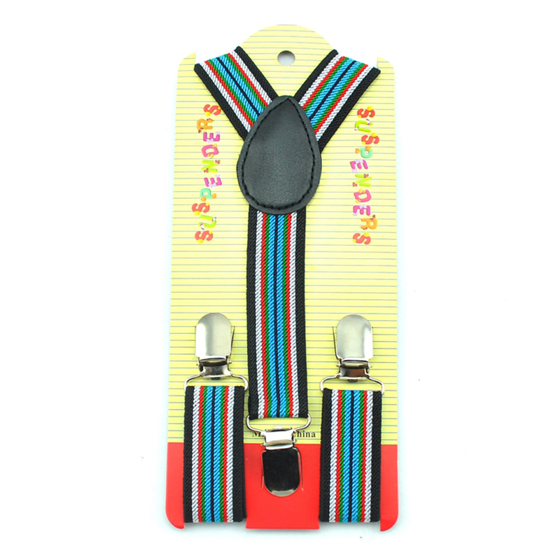 Wholesale And Retail 2.5cmx65cm Striped #04 Kids Suspenders Children Gift Elastic Braces Slim Suspender Y-back Boy's Suspenders