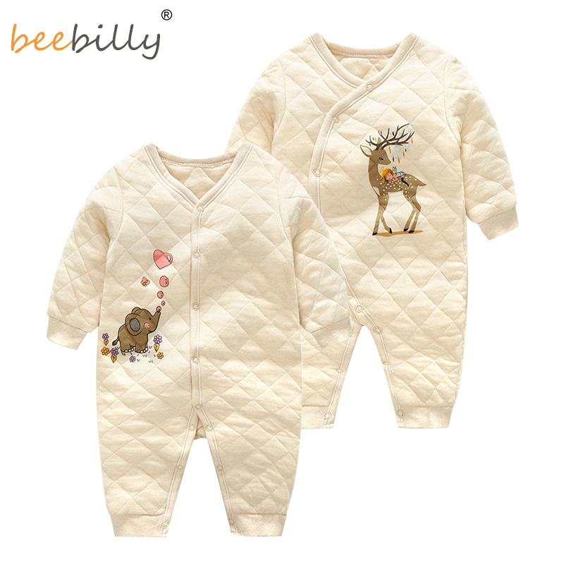 2018 autumn winter Baby Rompers Pajamas Boys Girl Organic cotton Newborn Jumpsuits Infant Clothing sleepwear baby clothes F402 boys rompers new hot 100% cotton winter spring autumn summer clothes infant newborn clothing baby clothes