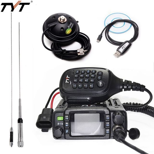 Tyt TH 8600 IP67防水デュアルバンドミニ車移動無線25ワットpowful vhf 136 174mhz UHF400 480Mhz 200CHカーラジオ局ハム