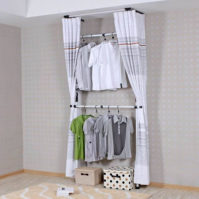 Longer section steel metal simple wardrobe cloth cabinets