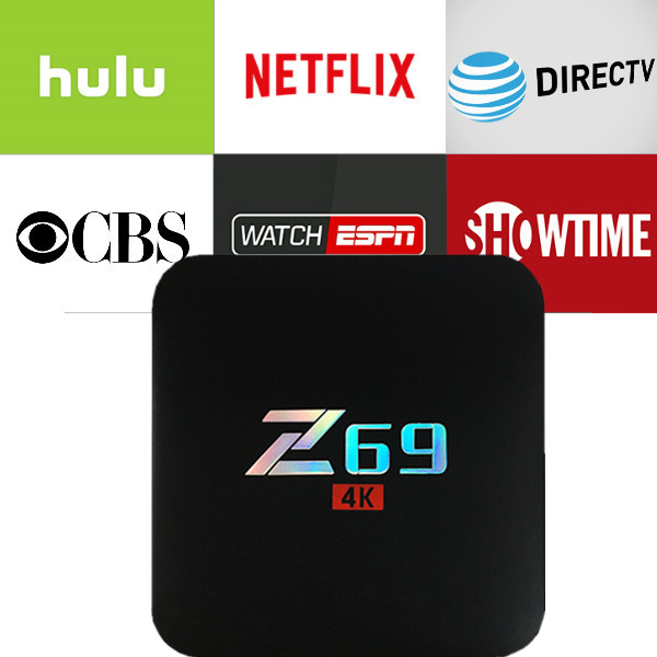 New Z69 Android 7.1 TV Box with 1 year Netflix/HULU/Directv/CBS account warranty work in Set top box Smarttv smartPhone excook cbs 33