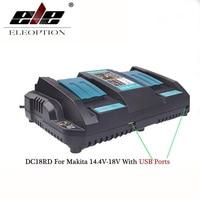 Makita 14.4V 18V BL1415 BL1430 BL1830 BL1440 용 Makita 배터리 충전기 용 듀얼 USB 포트 고속 출력 전동 공구 배터리
