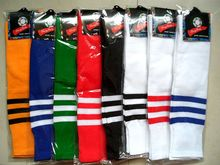Колено Трубки Мужчины Женщины Спорт Футбол Чулок Футбол Длинные Носки Для Взрослых Тонкий Дышащий Пот Поглощающих Полосатый QA057-SZ +(China (Mainland))