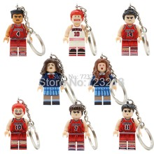 SLAM DUNK Cartoon Figure Keychain Hanamichi Sakuragi Mitsui Hisashi Akagi Takenori haruko Building Blocks Model Kits Toy(China)