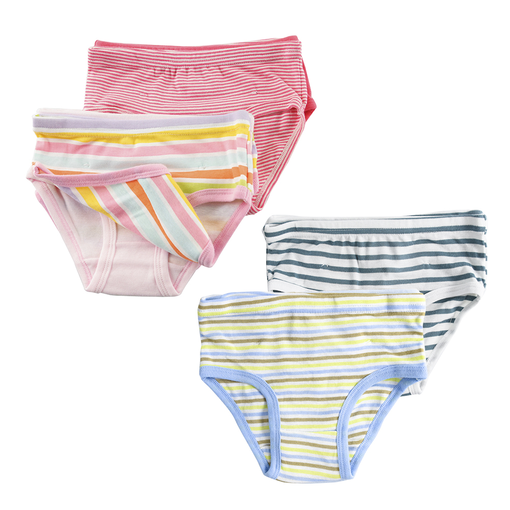 6Pcs/Lot 100% Organic Cotton Kids Girls Boys Briefs 2-8Y Kids Baby Underwear High Quality Shorts Panties For Children's Clothing