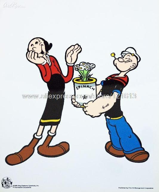 King Features Syndicate Popeye Spinach Animation Sericel Retail Hand Painted  Canvas Painting Pop Art Living Room