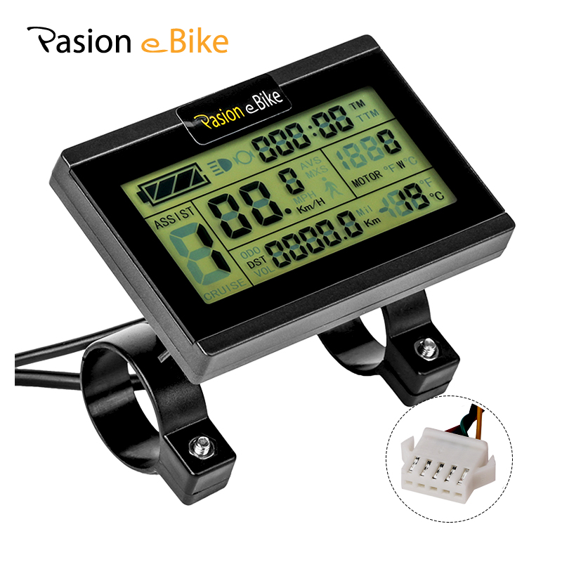 PASION Ebike Display LCD3 24V 36V 48V Electric Bike Display For KT Controller  Electric Bicycle Display