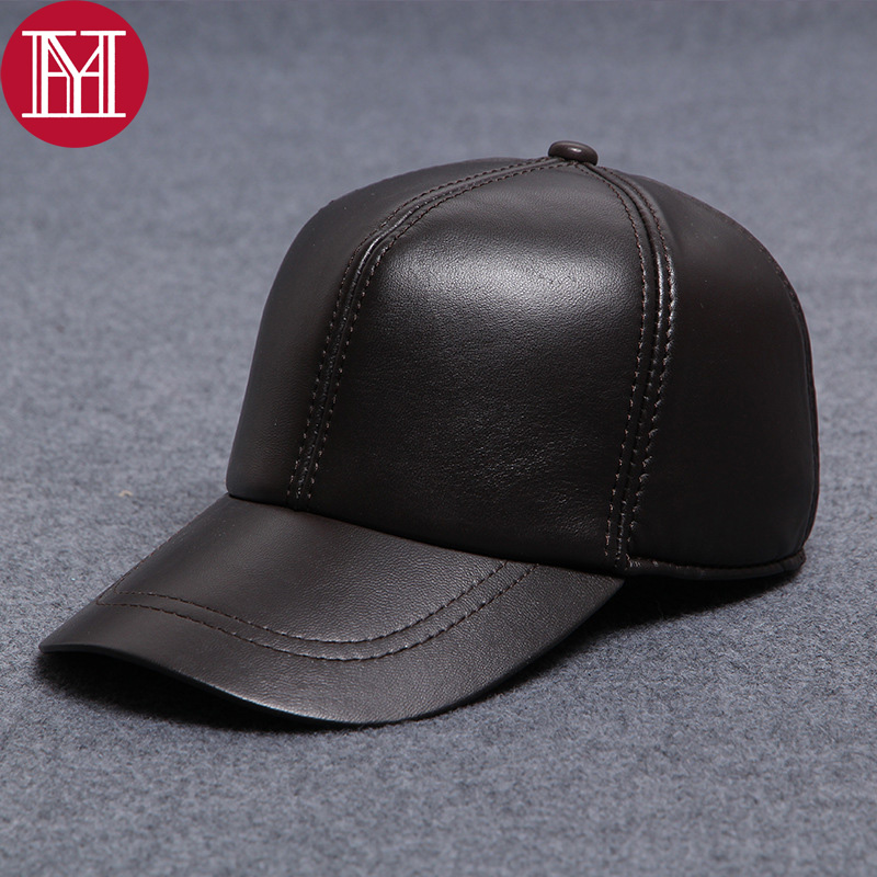 Cap Baseball-Hat Sports-Hat Real-Sheepskin High-Quality Adjustable Unisex Outdoor 100%Natural
