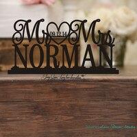 Custom Wedding Table Sign Wedding Cake Wedding Sign with Last NameWedding Table Decor Mr and Mrs Sign