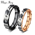 Magic Ikery Arrival 316L Stainless Love Couple Ring Wedding Engagement Rings man woman titanium steel couple rings for lovers