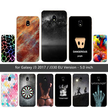 "For Samsung J3 2017 J3(7) Soft Silicone Phone Case Color Mesh Printed Cover For Galaxy J3 2017 J330F SM-J330F DS 5.0"" Case(China)"